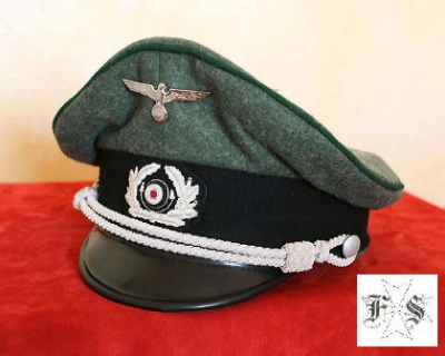 CAPPELLO UFFICIALE PANZERGRENADIER GERMANIA WWII