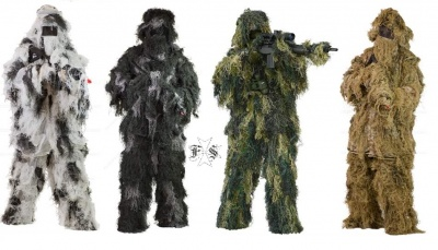 GHILLIE SUIT VARIE TIPOLOGIE