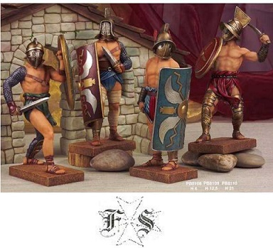 SET MINIATURE GLADIATORI II modello